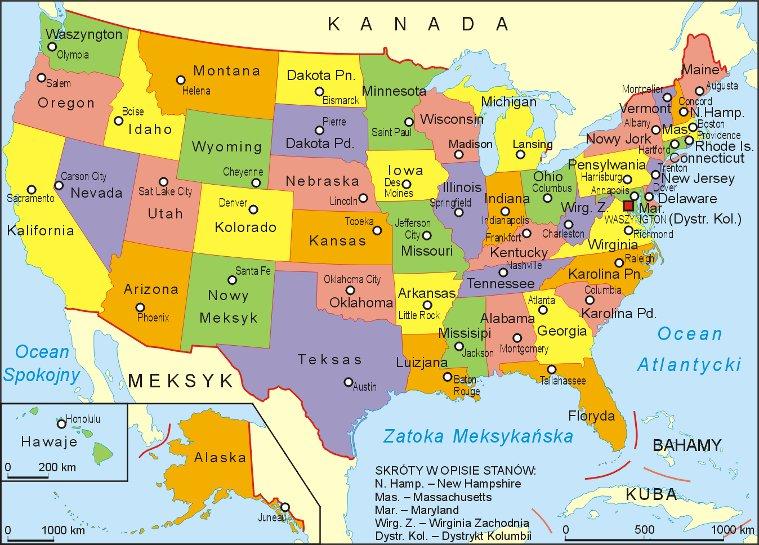 Podział Stanów Zjednoczonych