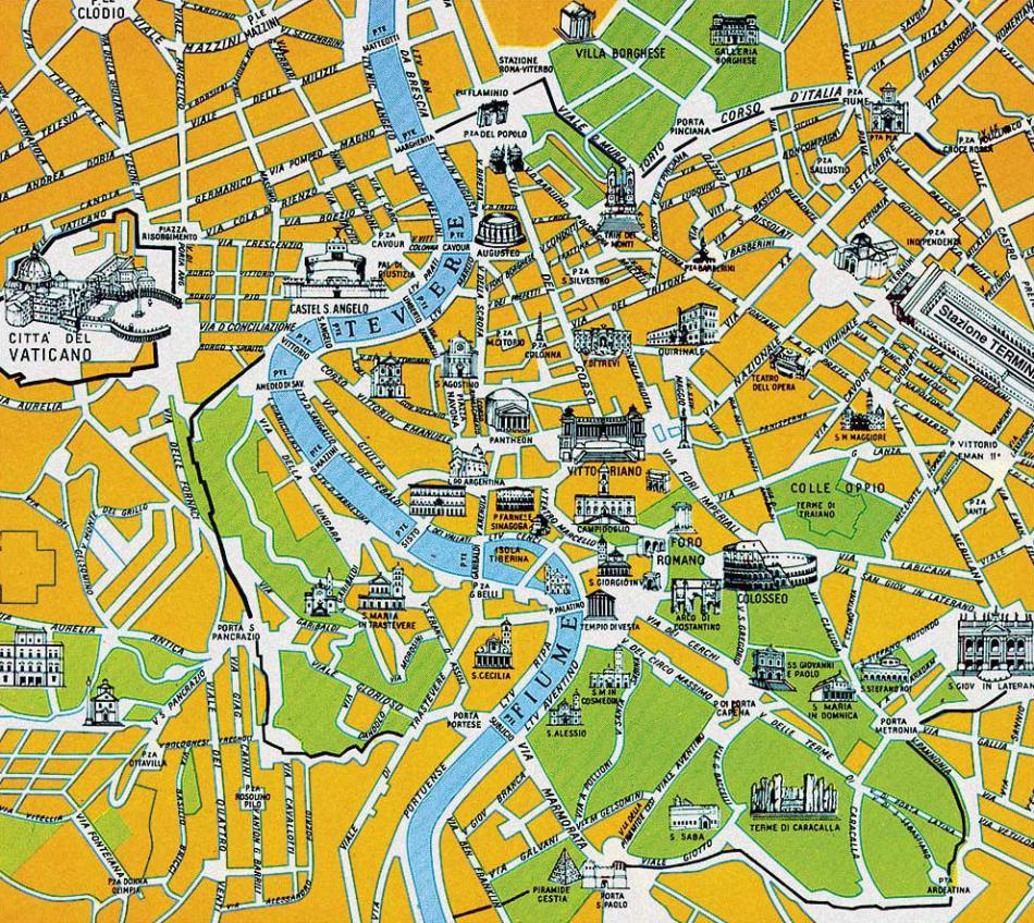 Mapa Zabytkow Rzymu Qwerty1423