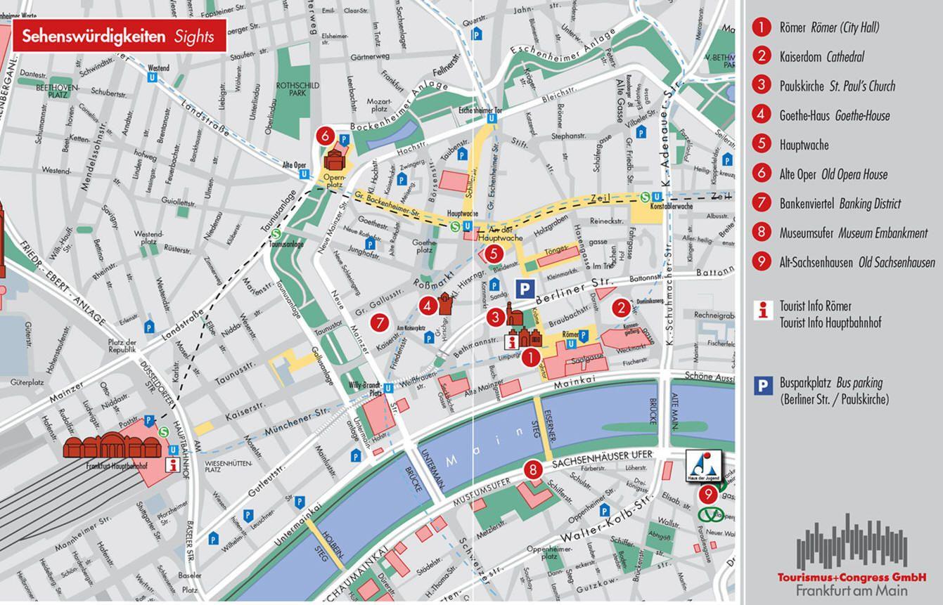 Frankfurt Mapa Zabytkow