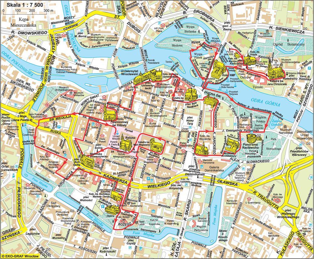 Wroclaw Mapa Zabytkow