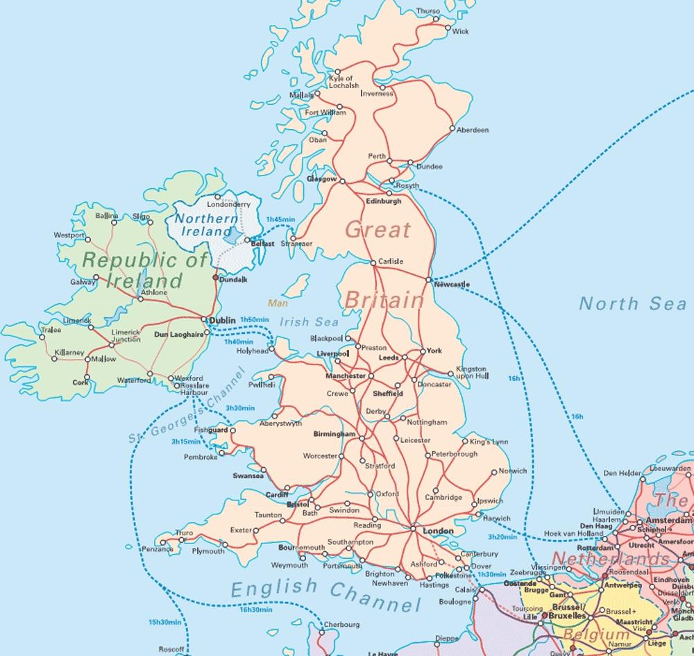 Wielka Brytania Mapa