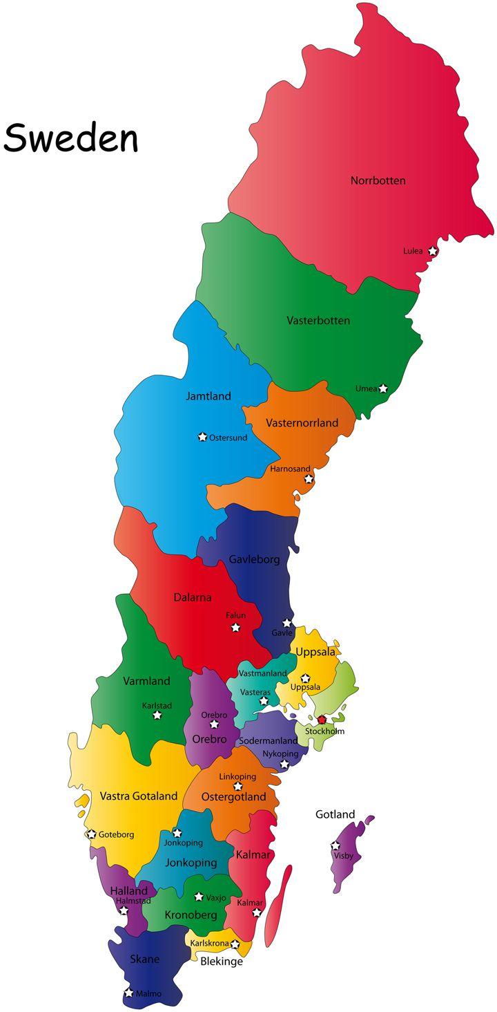Szwecja Mapa