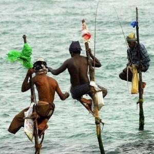 Sri Lanka - Tradycyjny połów ryb na Sri Lance