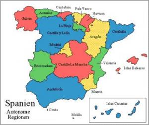Hiszpania - Podział administracyjny Hiszpanii