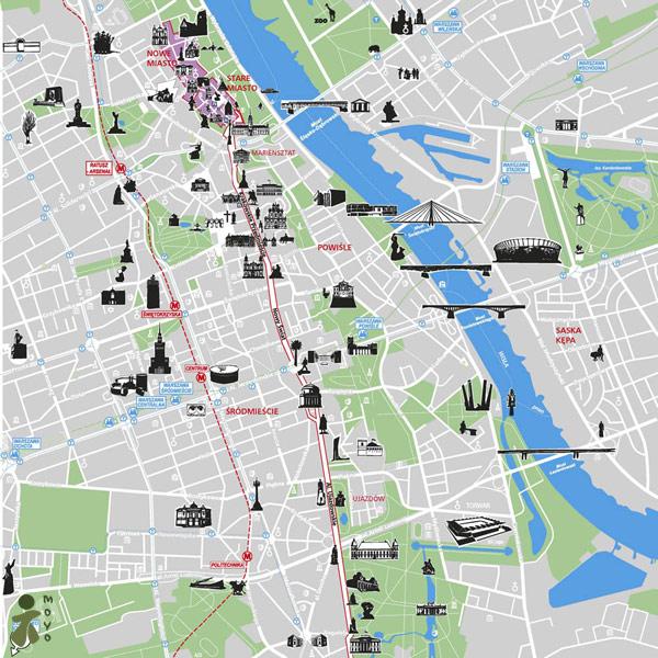 Warszawa mapa zabytków