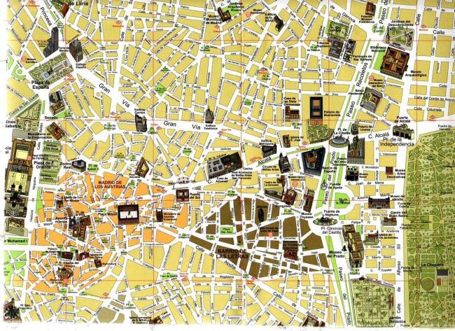 Madryt mapa zabytków2