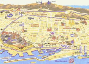 Barcelona - Barcelona mapa zabytk�w