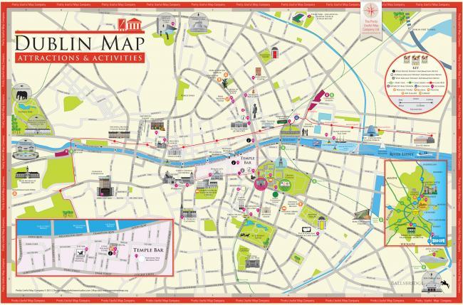 Dublin mapa zabytków