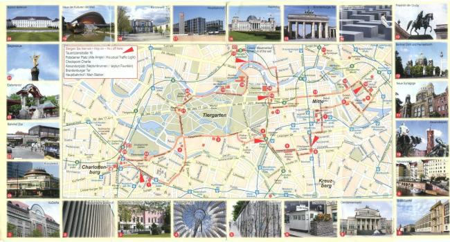Berlin mapa zabytków