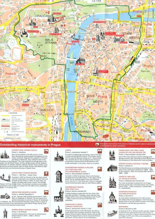 Praga mapa zabytków