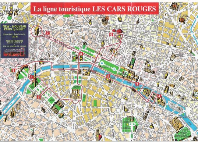 Paryż mapa zabytków