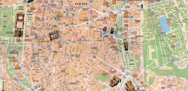 Madryt mapa zabytków