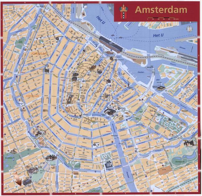 Amsterdam mapa zabytków