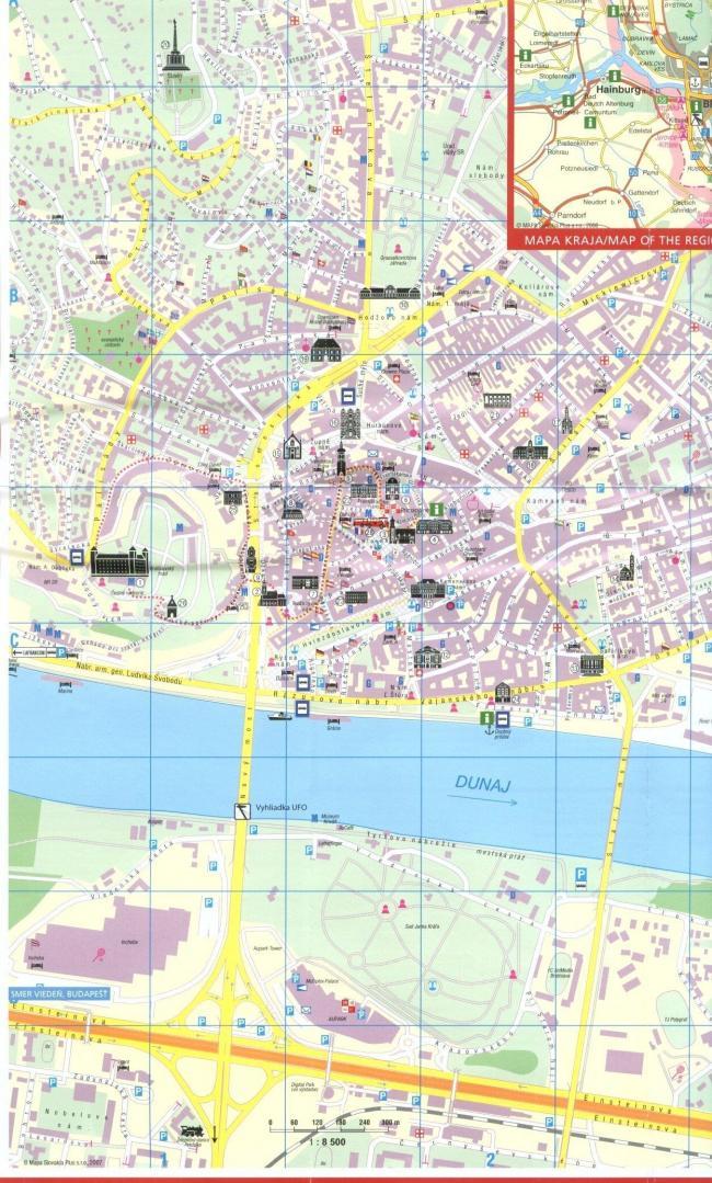 Bratysława mapa zabytków