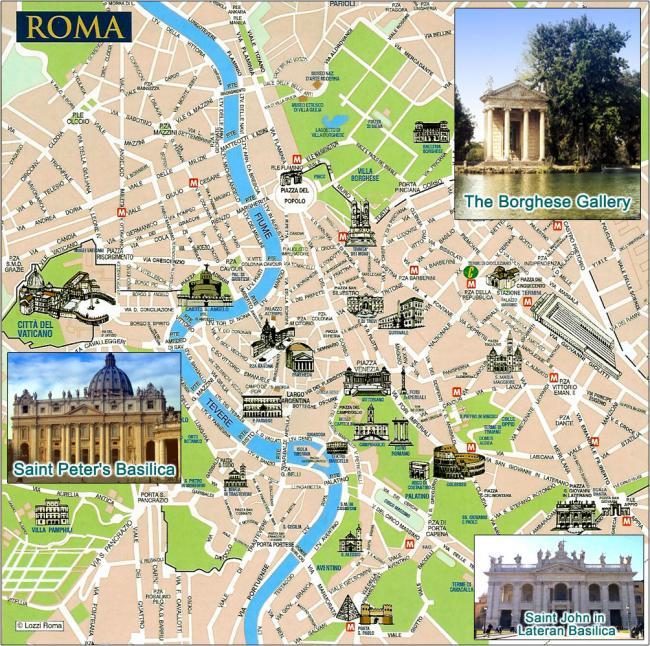 Rzym mapa zabytk�w