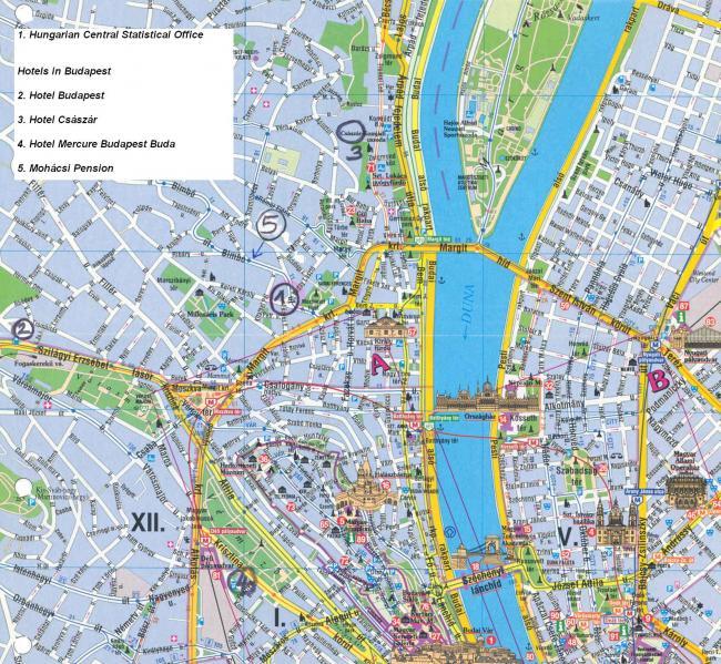 Budapeszt mapa zabytków