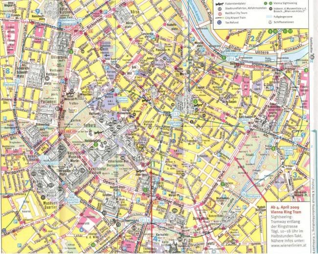 Wiedeń mapa zabytków