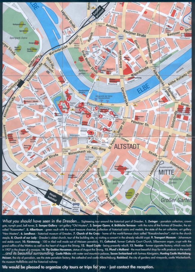 Drezno mapa zabytków