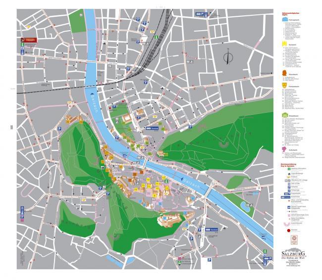 Salzburg mapa zabytków