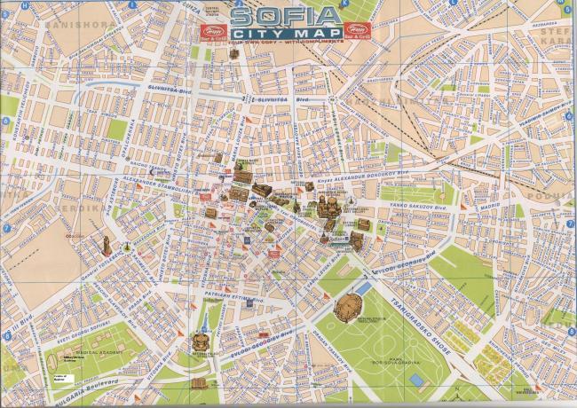 Sofia mapa zabytków