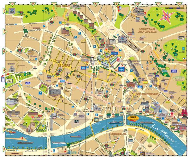 Liege mapa zabytków