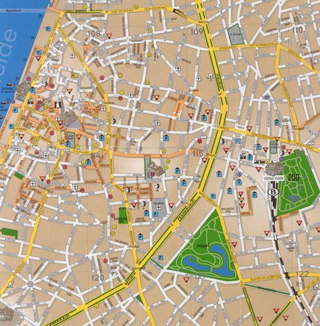 Antwerpia mapa zabytków