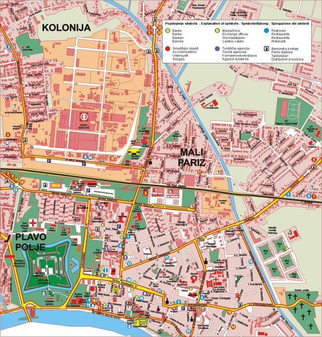 Split mapa zabytków