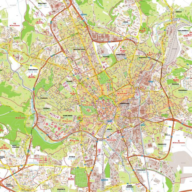 Brno mapa zabytków