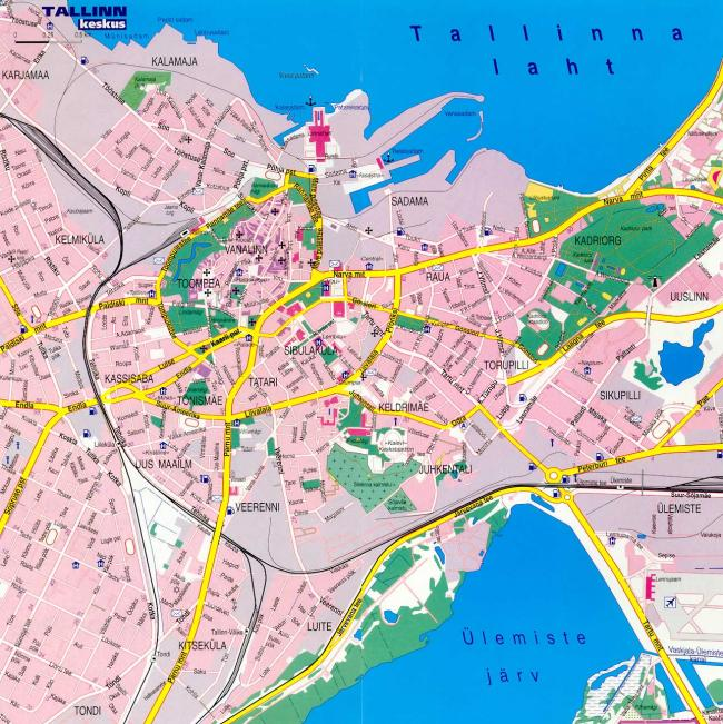 Tallin mapa zabytków