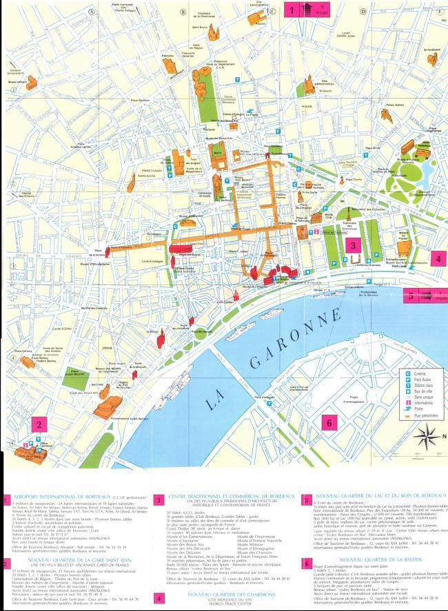 Bordeaux mapa zabytków