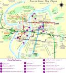 Lyon - Lyon mapa zabytk�w
