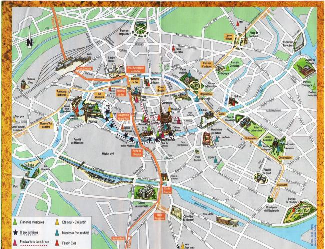 Strasburg mapa zabytków