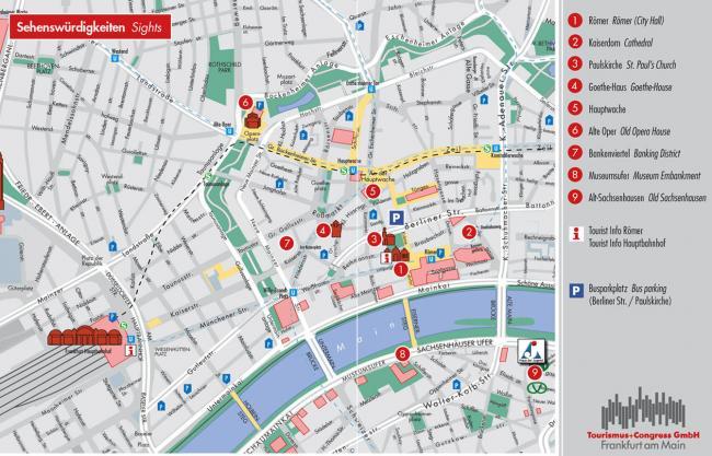 Frankfurt mapa zabytk�w