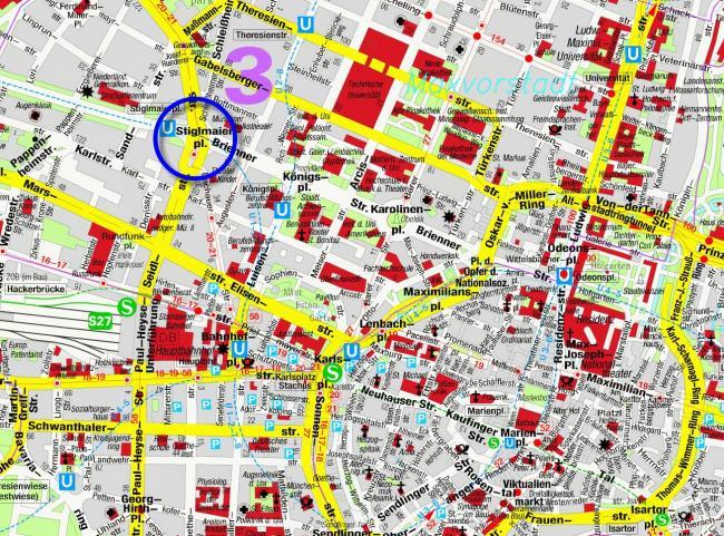 Monachium mapa zabytków