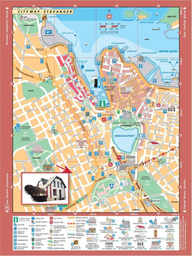 Stavanger mapa zabytkow