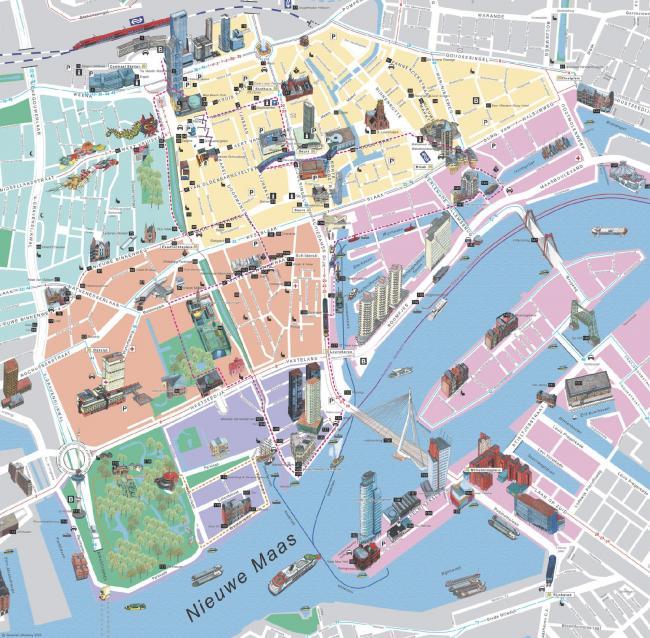 Rotterdam mapa zabytkow