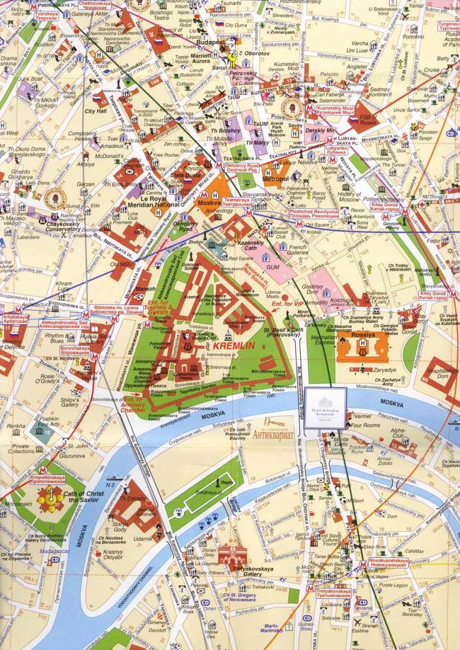 Moskwa mapa zabytków