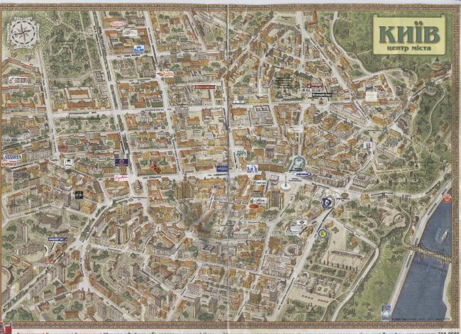 Kijów mapa zabytków