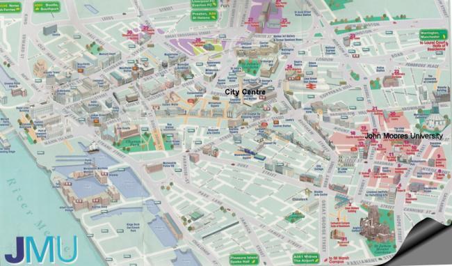Liverpool mapa zabytków