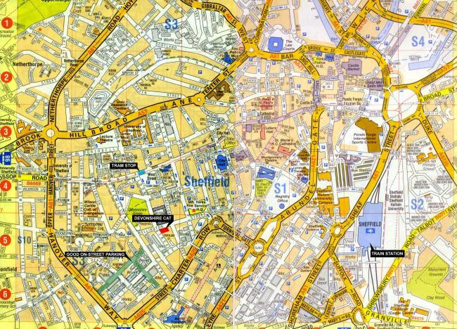 Sheffield mapa zabytków