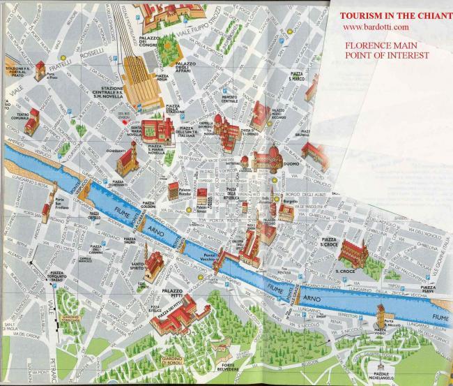 Florencja mapa zabytków