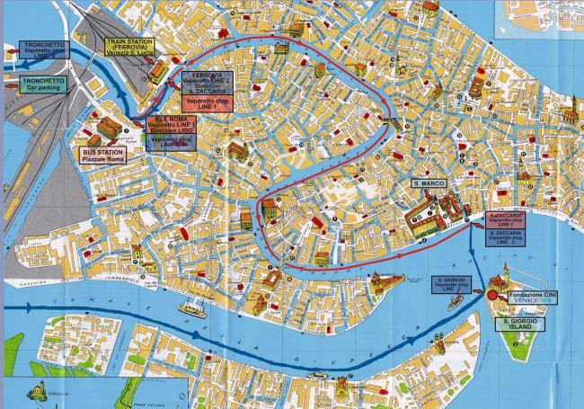 Wenecja mapa zabytków