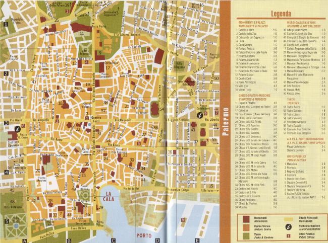 Palermo mapa zabytków