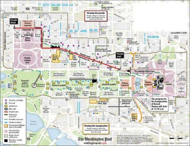 Waszyngton mapa zabytków