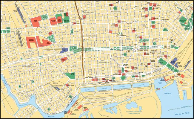 Buenos Aires mapa zabytków