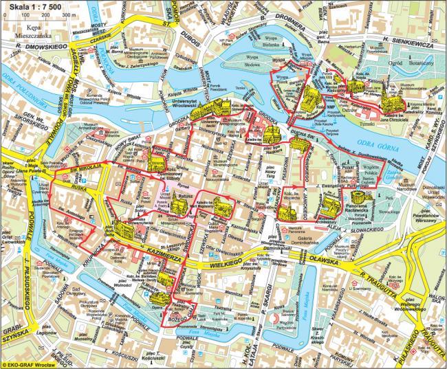 Wrocław mapa zabytków