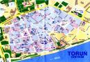 Toruń - Toruń mapa zabytków