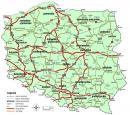 Polska - Mapa polski