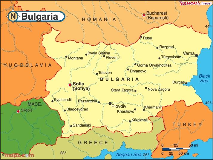 Bu�garia mapa