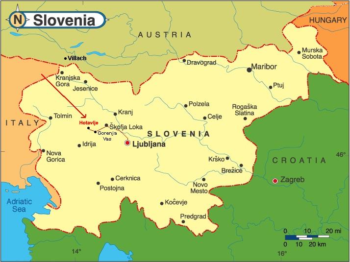 S�owenia mapa